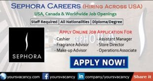 Sephora Careers in USA, Canada & Worldwide Job Openings 2019