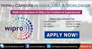 Wipro Careers in India, USA & Worldwide • June 2019