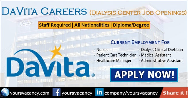 DaVita Careers - Dialysis Center Job Openings • June 2019
